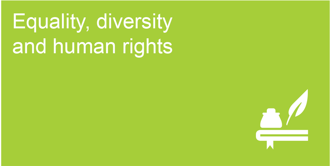 equality diversity and rights The government's equality strategy 'building a fairer britain' is underpinned by the two principles of equal treatment and equal opportunity by working towards the elimination of prejudice and discrimination, birmingham and solihull mental health nhs foundation trust can deliver services that are personal, fair and diverse.