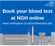 Blood taking unit introduces online booking system