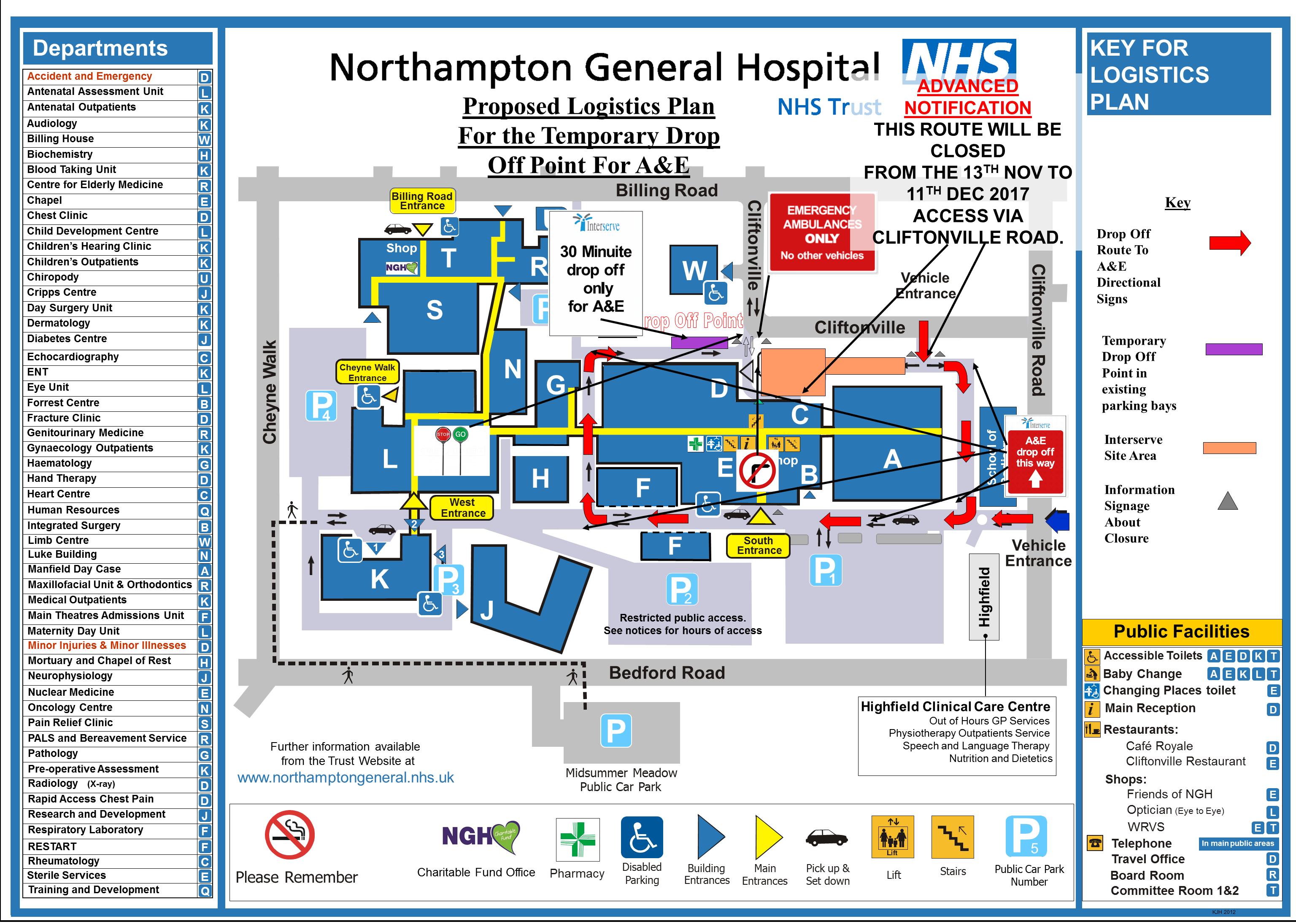 Northampton General Hospital Map Major Building and Service Improvements Northampton General Hospital Map